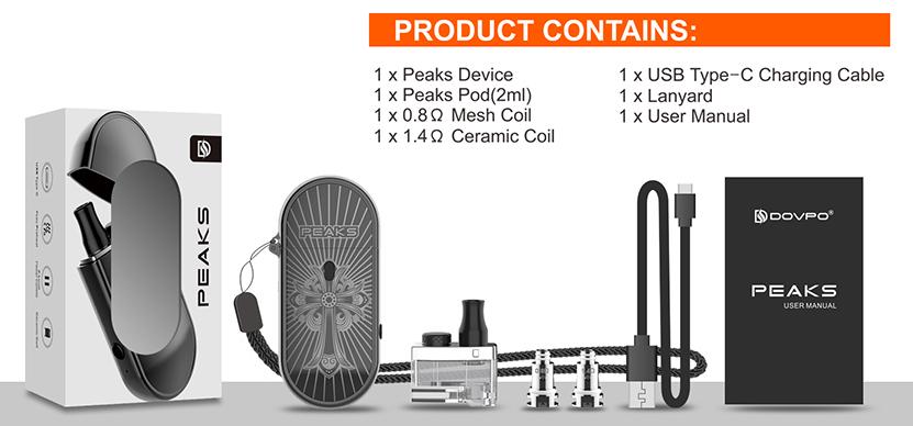 DOVPO Peaks Pod System Kit Package