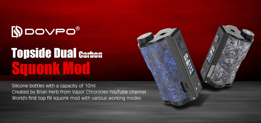 Dovpo Topside Dual Carbon Squonk Mod Banner