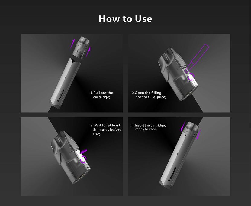 Damn Vape Fresia Pod System Vape Kit Filling