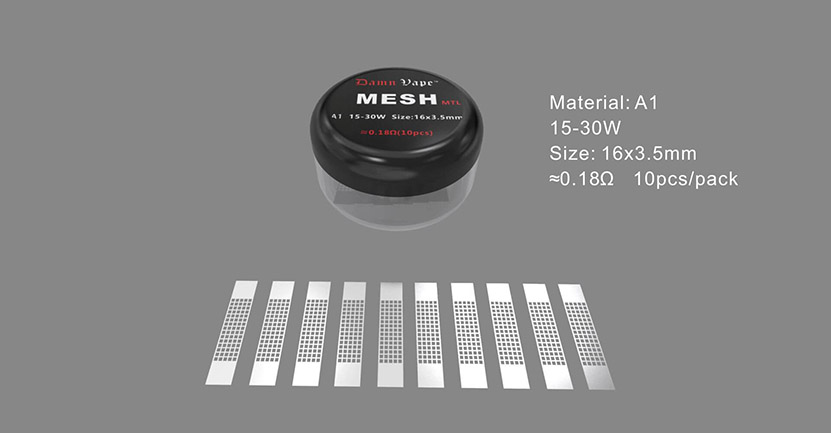 Damn Vape Intense Mesh MTL Coil Parameters