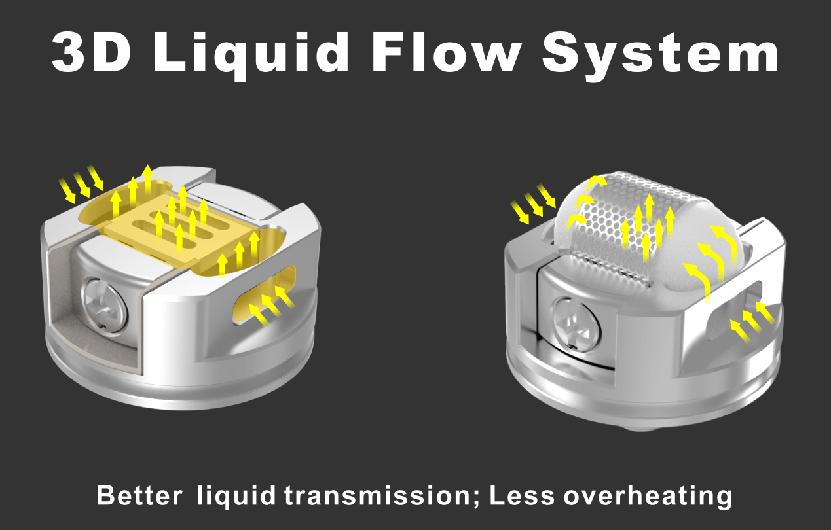 Damn Vape DOOM RTA Tank Atomizer 3D Liquid Flow System