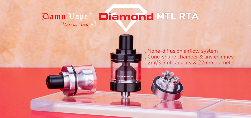 Damn Vape Diamond MTL RTA Banner