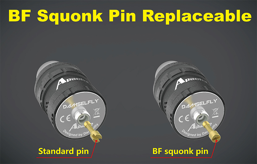 Damselfly Apache RDA Atomizer BF Pin