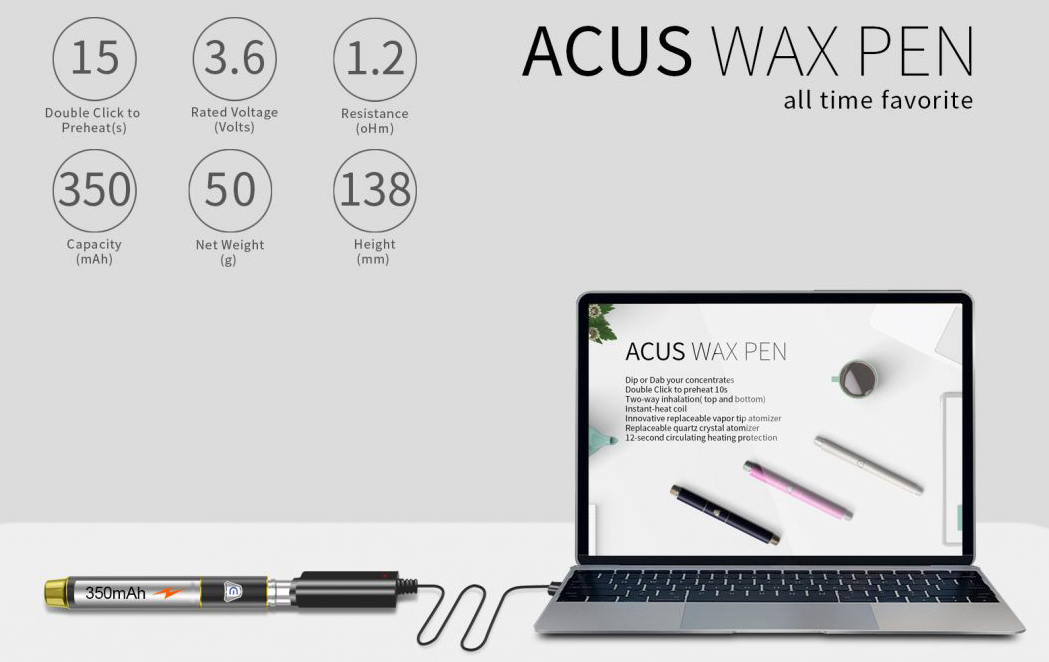 Acus Wax Pen Vaporizer Features 03
