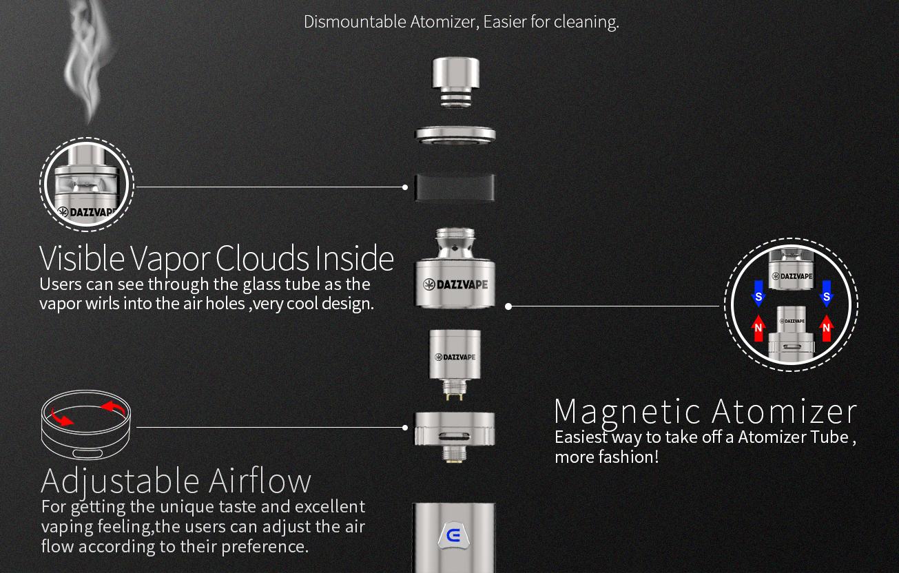 Dazzvape Melter Wax Vaporizer Features 01