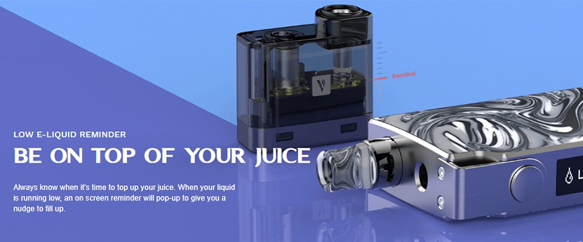 Vaporesso Degree Kit E-liquid Reminder