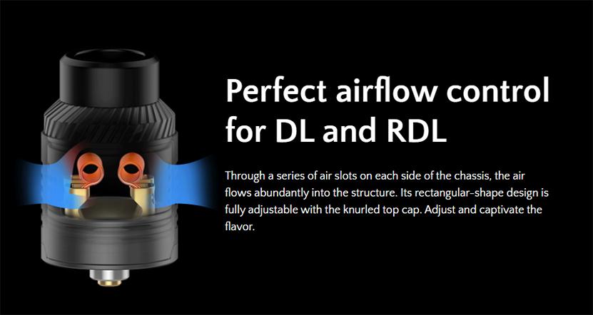 Digiflavor Drop RDA V15 airflow