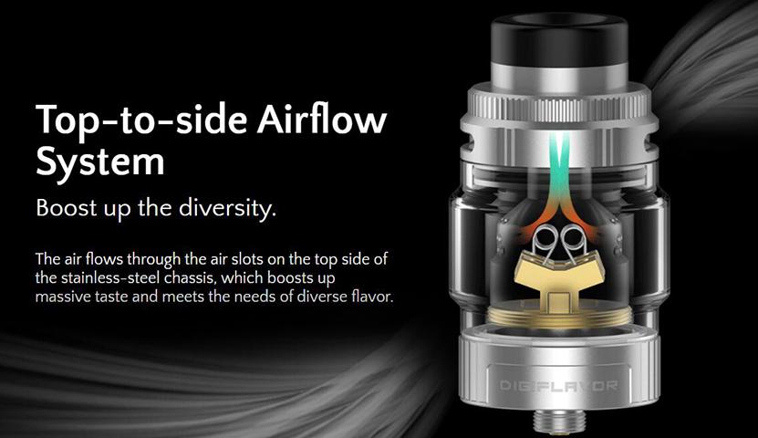 Digiflavor Torch RTA Airflow