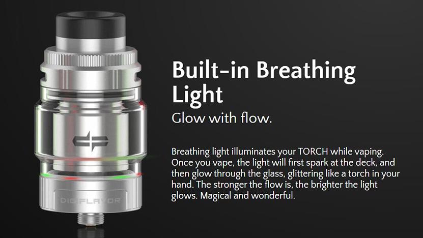 Digiflavor Torch RTA Breathing light