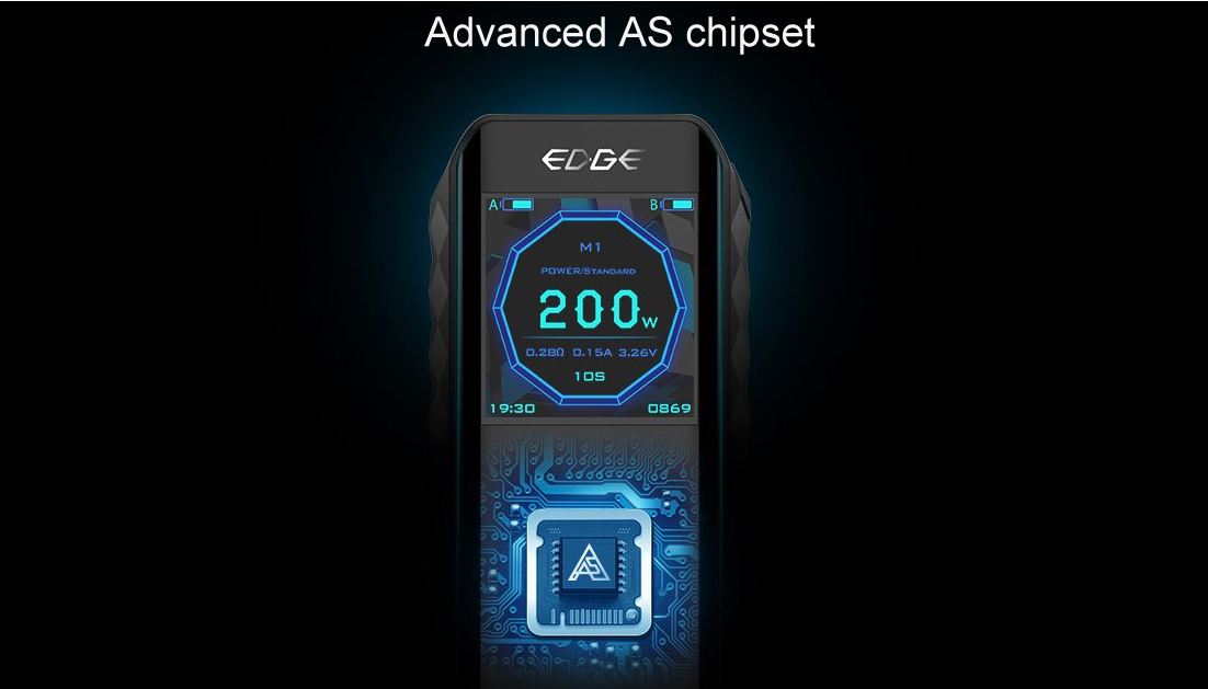 Digiflavor Edge 200W TC Kit Features 1