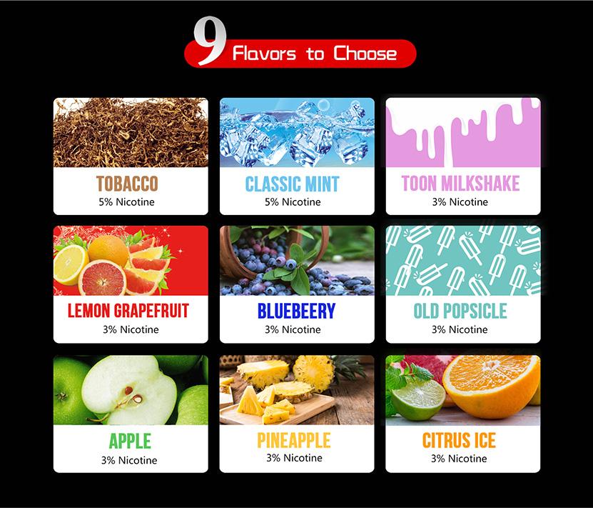 CG Pod System Kit 9 Flavors