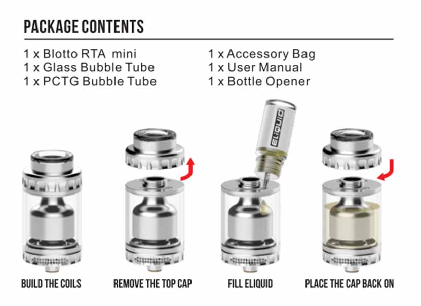 Blotto Mini RTA Atomizer Package