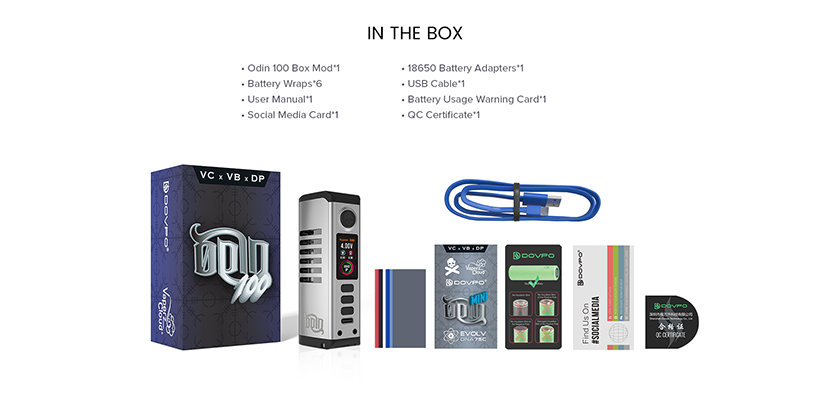 DOVPO Odin 100 Box Mod Package