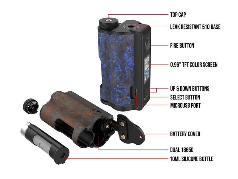 Dovpo Topside Dual Carbon Squonk Mod Component