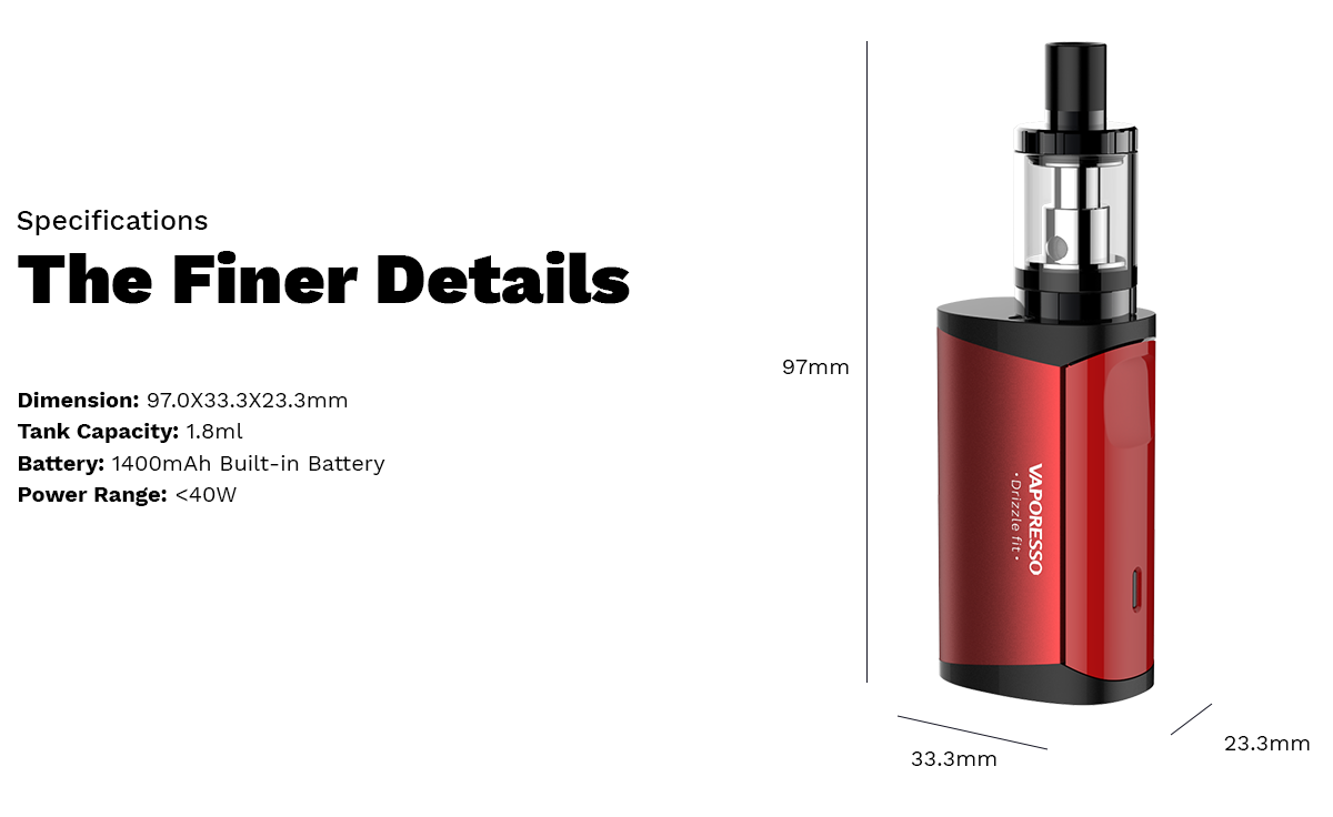 Vaporesso Drizzle Fit 40W Starter Kit
