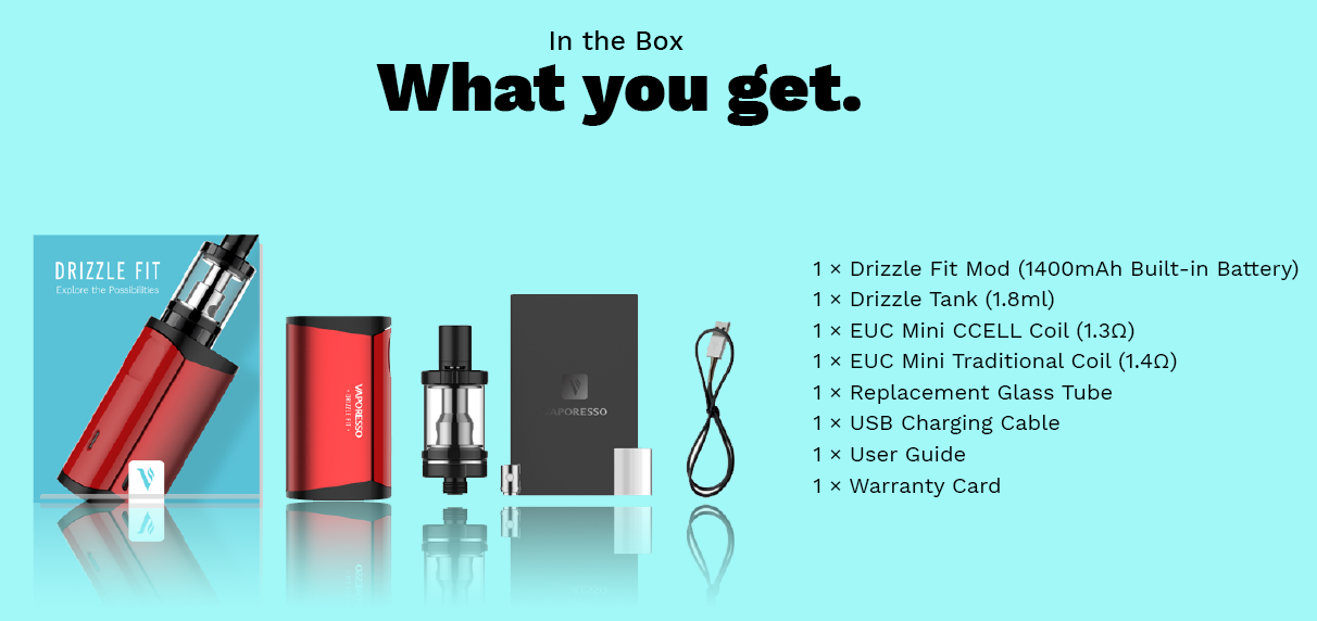 Vaporesso Drizzle Fit Starter Kit with Drizzle Tank