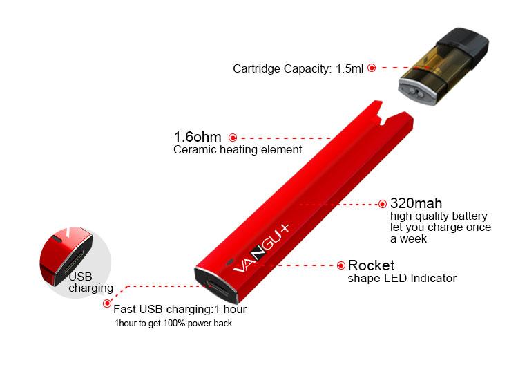 E-bossvape VANGU Vape Pen Kit 06