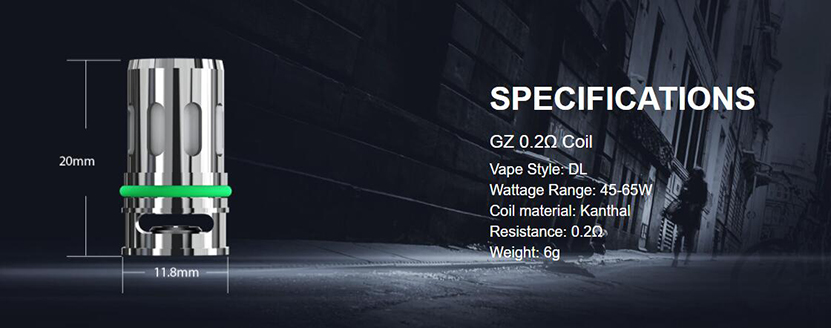 Eleaf GZ Coil 0.2ohm Coil Specification