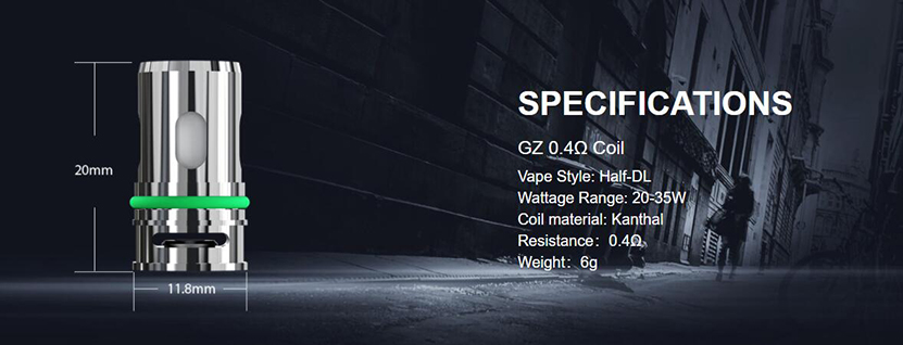 Eleaf GZ Coil 0.4ohm Specification