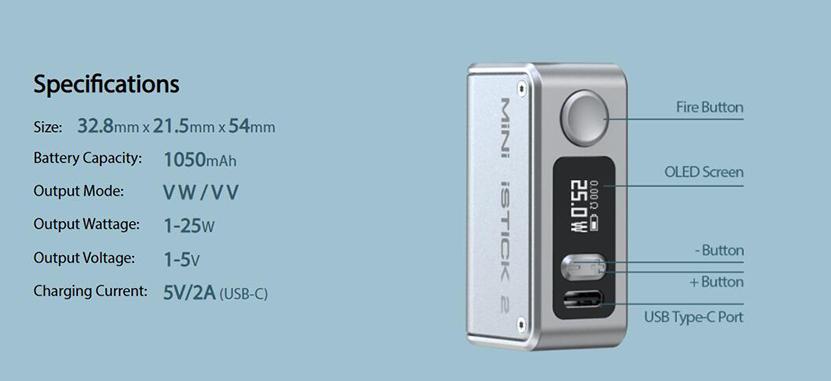 Eleaf Mini iStick 2 Mod Feature 8