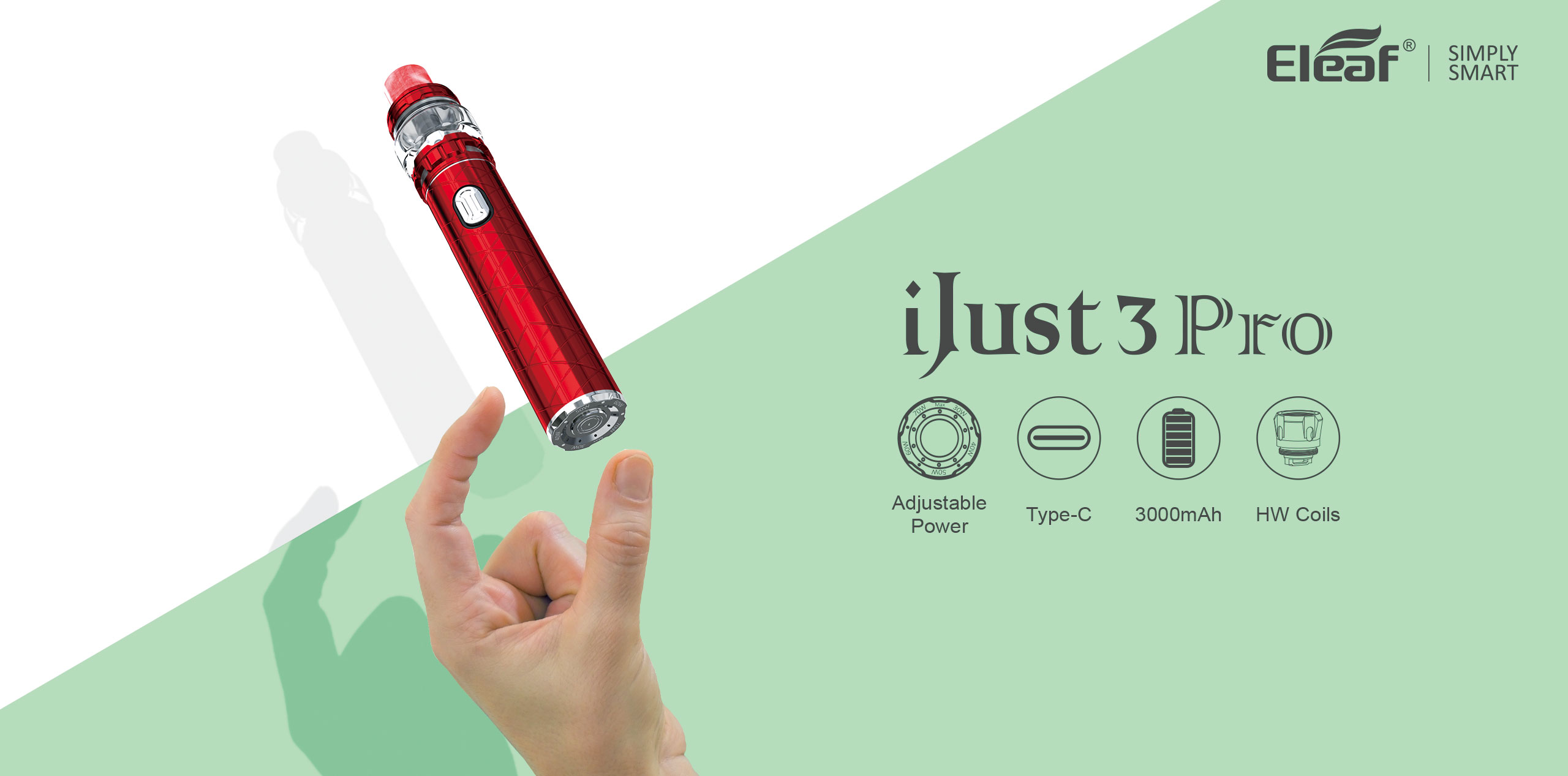Eleaf iJust 3 Pro Kit with Ello Duro Tank Features