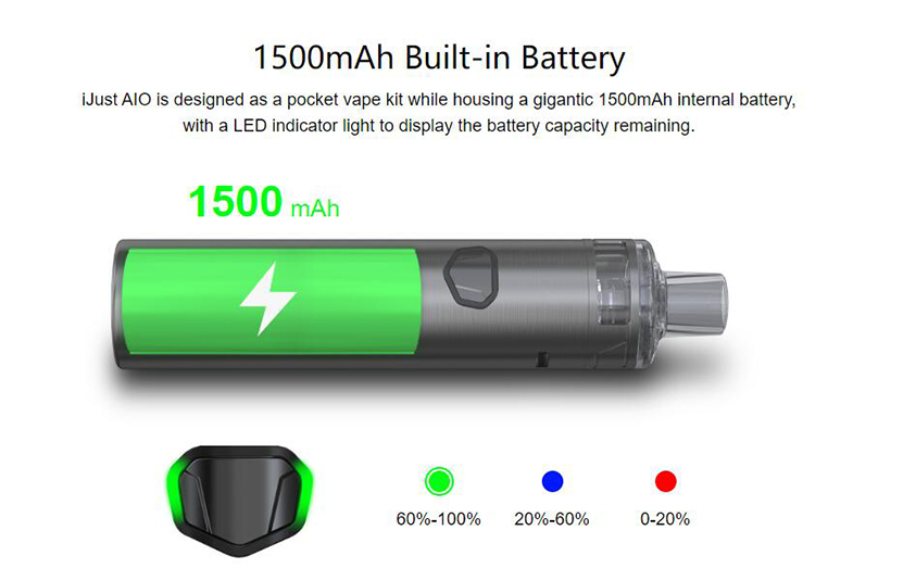 Eleaf iJust AIO 1500mAh battery Battery