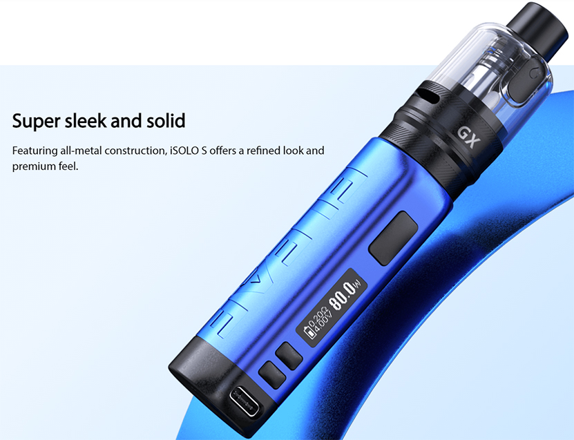 Eleaf iSolo S Kit with GX Tank Design