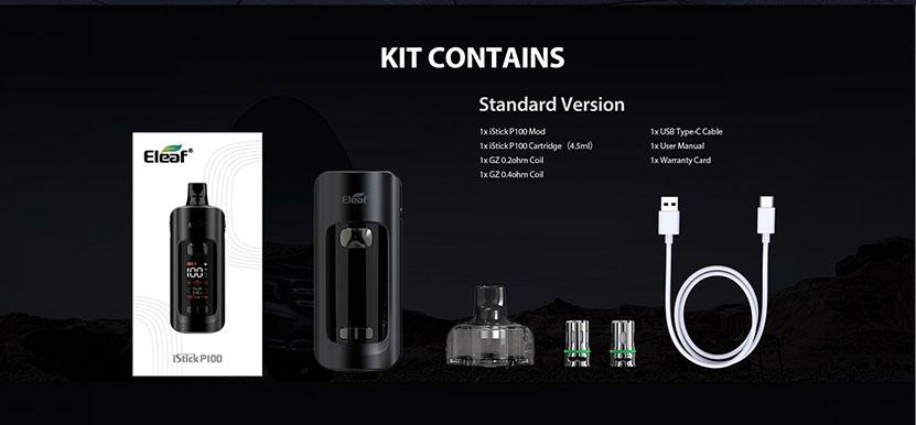Eleaf iStick P100 Pod System Kit Package