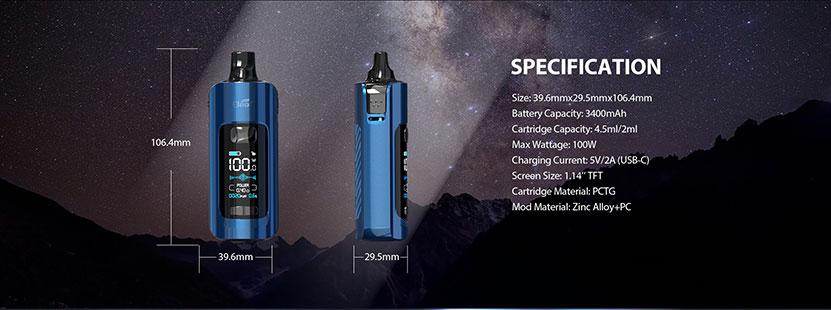 iStick P100 Mod Pod Kit Specification