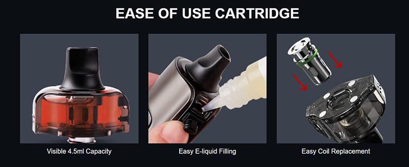 Eleaf iStick P100 Pod Cartridge Easy to use