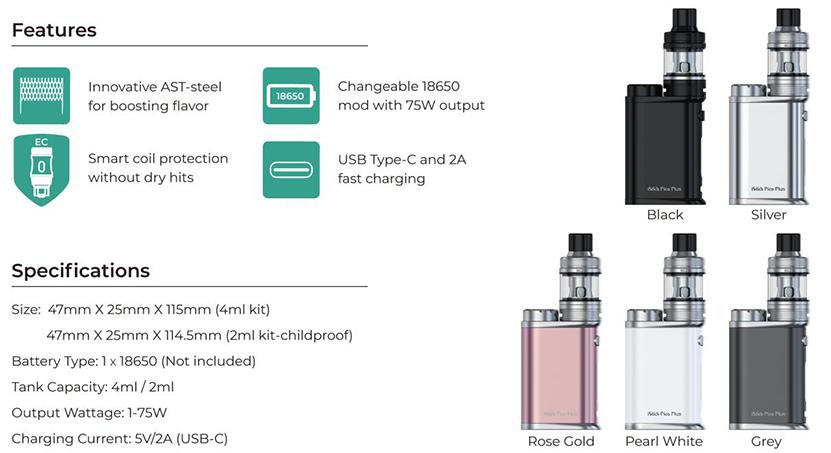 Eleaf iStick Pico Plus Specification