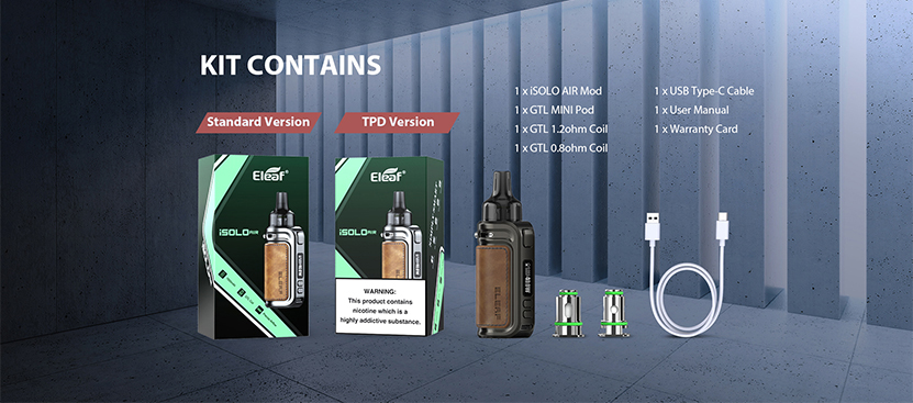 Eleaf isolo air Kit package
