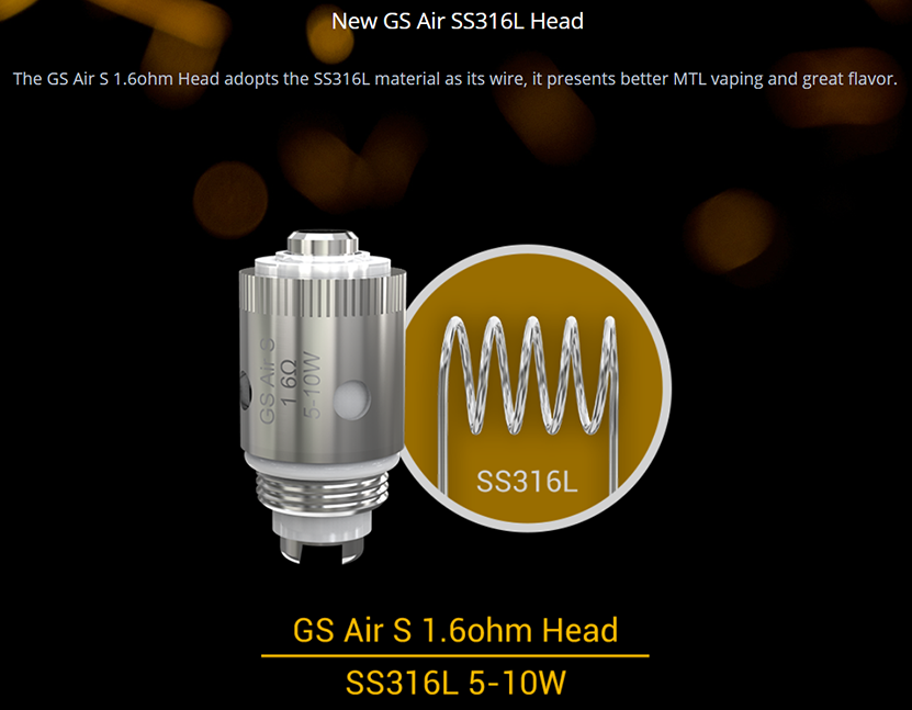 Eleaf GS Air SS316L Head