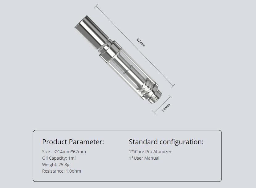 Eleaf iCare Flask Atomizer Features 01