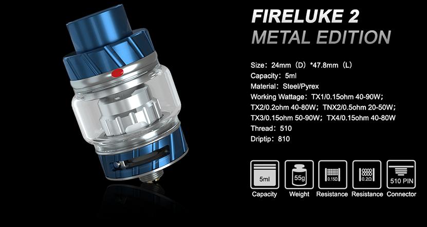 Fireluke 2 Tank Parameters