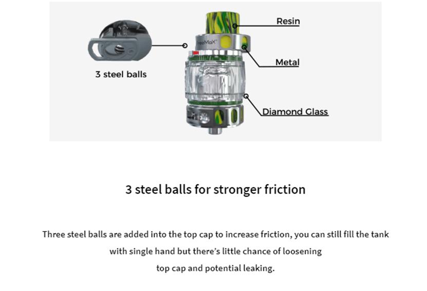 M Pro 2 Sub Ohm Tank 3 Steel Balls