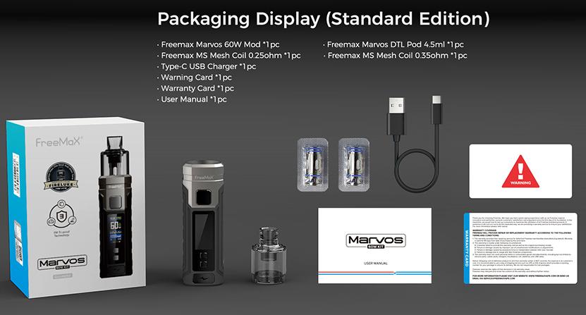 Freemax Marvos 60W Kit Package