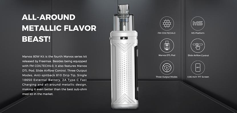 Freemax Marvos 80W Kit Features
