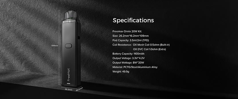 Freemax Onnix 20W Kit specification