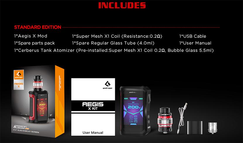GeekVape Aegis X Kit Package