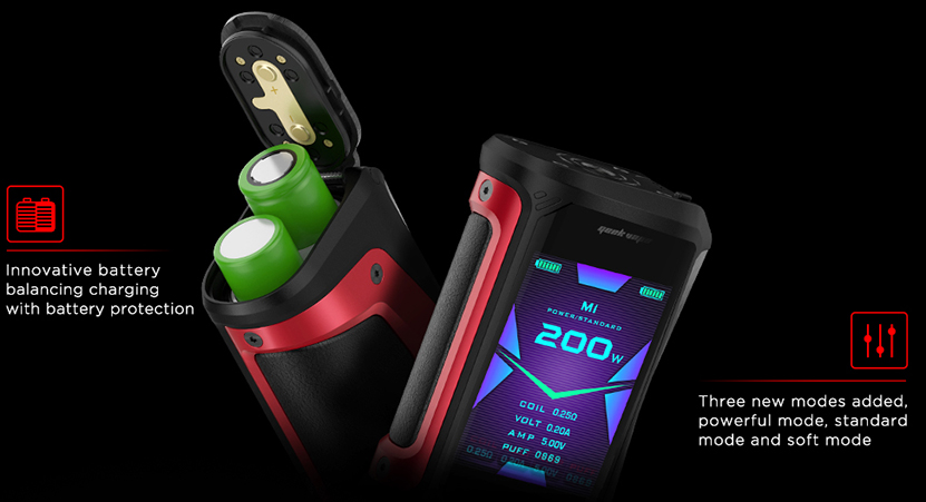 Aegis X 200W Box Mod Battery Balancing Charging