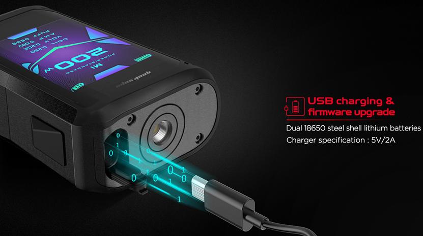 GeekVape Aegis X Mod USB Charging
