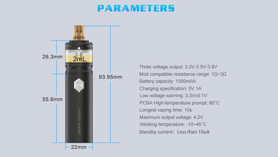 Geekvape Flint Starter Kit Features 10