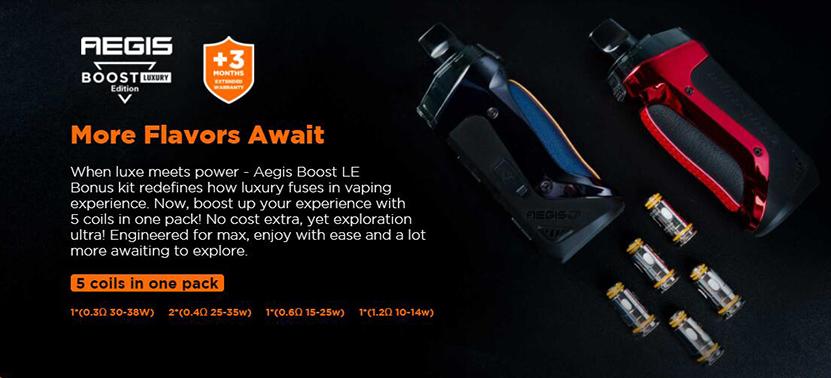 GeekVape Aegis Boost LE Bonus Kit Feature 1