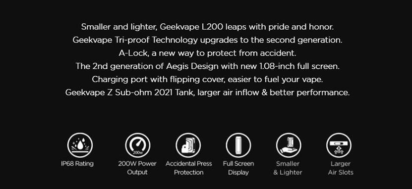 GeekVape Aegis Legend 2 Mod Introduction