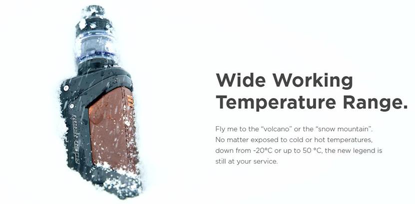 GeekVape Aegis Legend 2 Box Mod Working Temperature