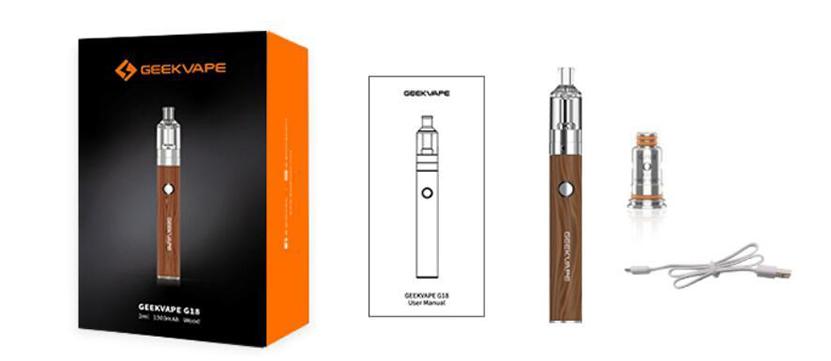 GeekVape G18 Pen Kit package