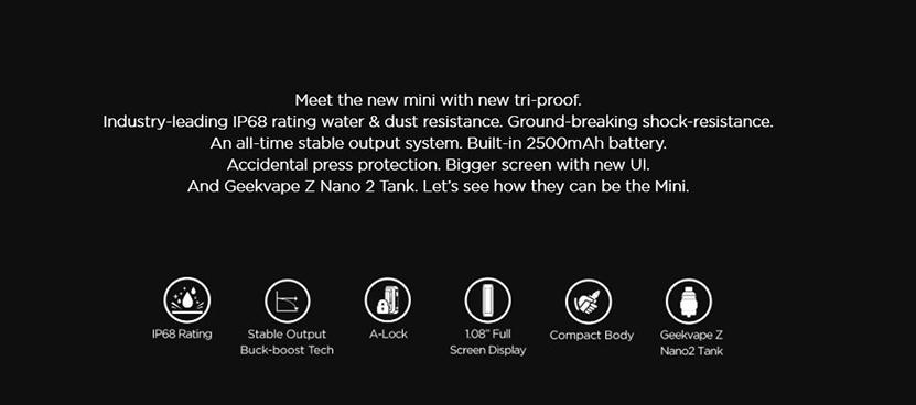 GeekVape Aegis Mini 2 Kit Features