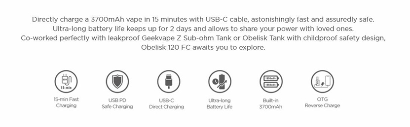 GeekVape Obelisk 120 FC Mod Feature 3