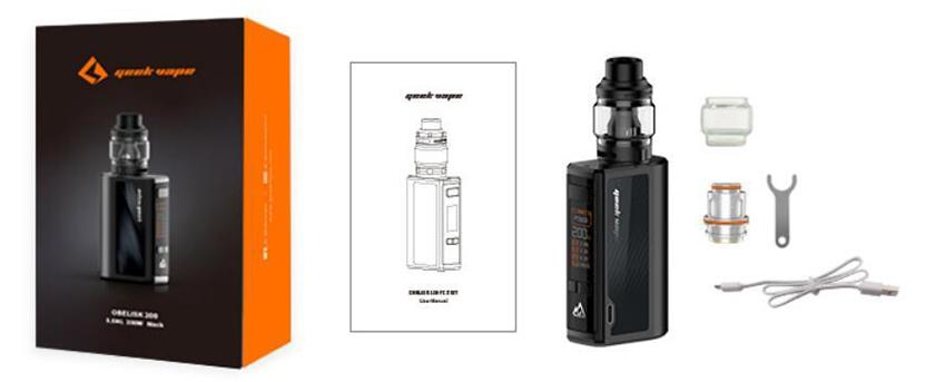 GeekVape Obelisk 200 Kit package